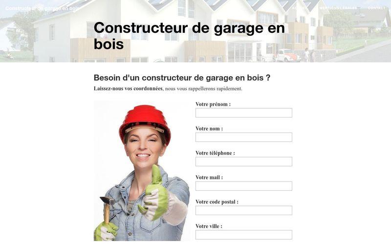 Constructeur de garage en bois